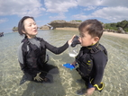 KIDS plan Beach snorkering.