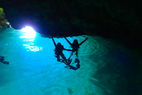 Blue cave Diving tour go to by boat ((Japanese/English/Chinese ))