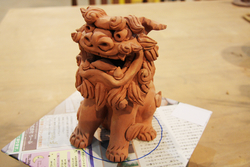 芸能・生活文化体験 Advanced hand forming ceramic Shisa making To make with soil Full-scale Shiisa
