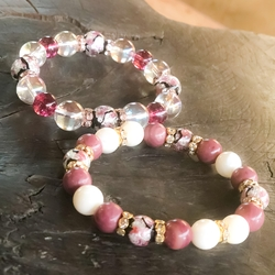 芸能・生活文化体験 Glowing fluorite bracelet making  Fluorite stone bracelet glows with 4 (10 mm)